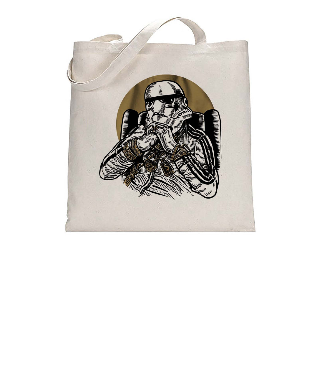 Gangsta Trooper Movie Inspired Fan Art Graphic Tote Bag Cotton Shopper 38x42cm 3327