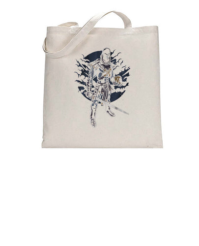 Dark Warrior Graphic Illustration Tote Bag Cotton Shopper 38x42cm 3321