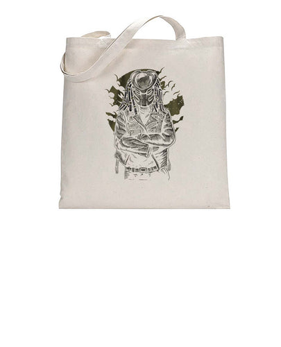 Predator Movie Inspired Cool Graphic Biker Tote Bag Cotton Shopper 38x42cm 3312