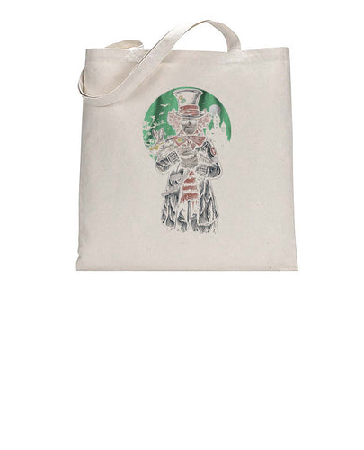 The Mad Hatter Movie Inspired Graphic Illustration Tote Bag Cotton Shopper 38x42cm 3309