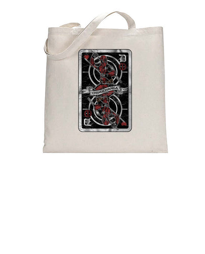 Chimichanga Pool Playing Card Inspired Vintage Tote Bag Cotton Shopper 38x42cm 3298