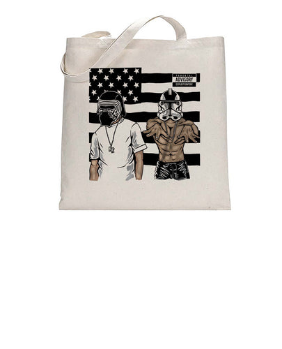 Thug Life Troopers Music Inspired Funny Graphic Tote Bag Cotton Shopper 38x42cm 3297