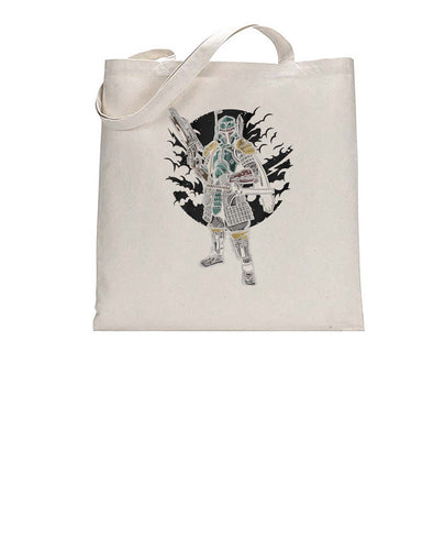 Samurai Trooper Cool Graphic Illustration Tote Bag Cotton Shopper 38x42cm 3317