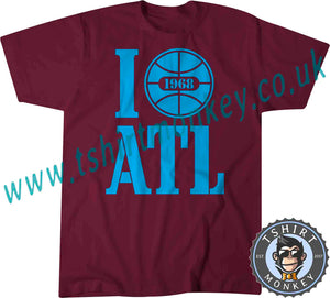 I Love ATL I Love Atlanta USA 1968 T Shirt T-Shirt Unisex Mens Kids Ladies 00001