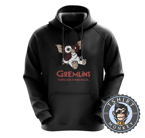 Gremlins - There Are Three Rules Movie Hoodies Hoodie Hoody Mens Ladies Kids Unisex 2374