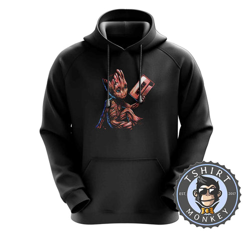 Grunge Baby Groot Cassette Tape Cute Graphic Hoodies Hoodie Hoody Mens Ladies Kids Unisex 2373