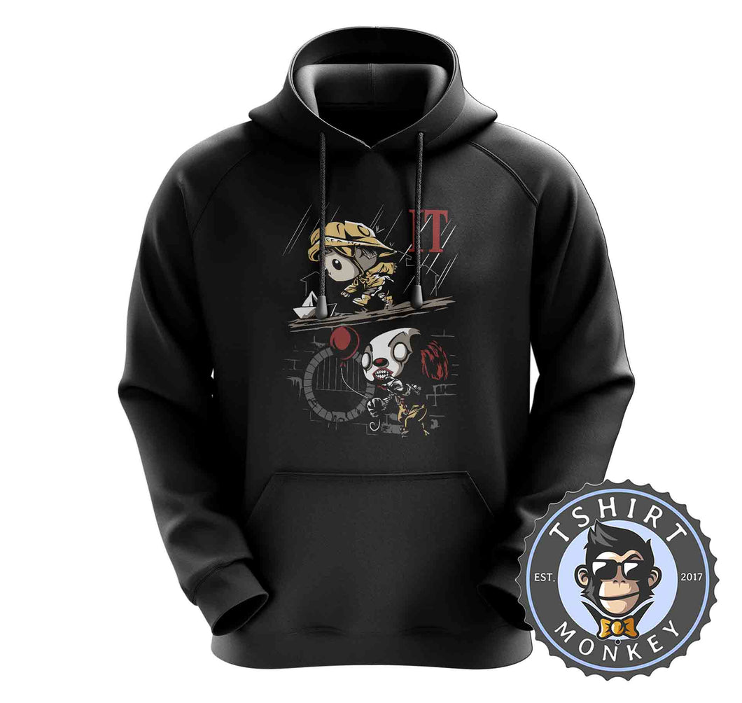 Cute Cartoon Scary Clown IT Inspired Graphic Hoodies Hoodie Hoody Mens Ladies Kids Unisex 2369