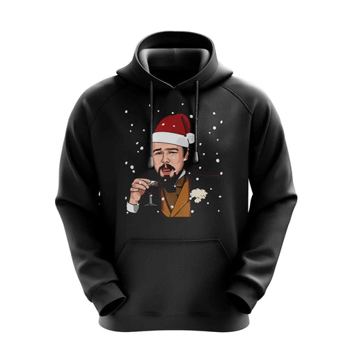 Drunk Big Leo DiCaprio Django V3 Meme Funny Snowing Christmas Hoodies Hoodie Hoody Mens Ladies Kids Unisex 11118