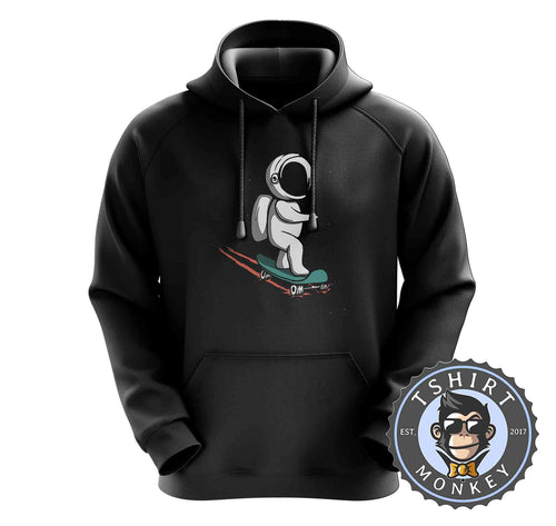 Space Skater Astronaut Cartoon Hoodies Hoodie Hoody Mens Ladies Kids Unisex 2278