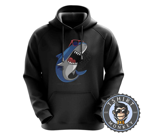 Shark Attack - Cool Summer Animal Cartoon Hoodies Hoodie Hoody Mens Ladies Kids Unisex 2290