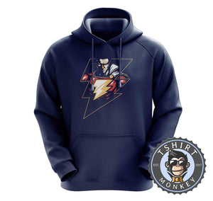 Lightning Shazam Graphic Illustration Hoodies Hoodie Hoody Mens Ladies Kids Unisex 2376