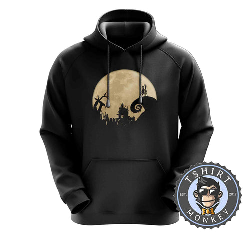 Jack And Sally - Christmas Halloween Movie Inspired Hoodies Hoodie Hoody Jumper Pullover Mens Ladies Kids Unisex 1058