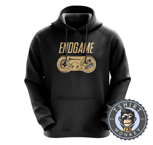 Endgame - Classic Game Controller Inspired Gamer Hoodies Hoodie Hoody Jumper Pullover Mens Ladies Kids Unisex 1439