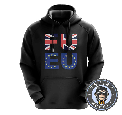 FU EU - Graphic Illustration Statement Hoodies Hoodie Hoody Jumper Pullover Mens Ladies Kids Unisex 0929