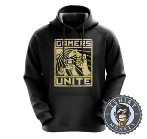 Gamers Unite - Vintage Gaming Graphic Hoodies Hoodie Hoody Jumper Pullover Mens Ladies Kids Unisex 1210
