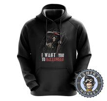 Load image into Gallery viewer, I Want You To Halloween Death Grim Reaper Inspired Graphic Hoodies Hoodie Hoody Jumper Pullover Mens Ladies Kids Unisex 1143