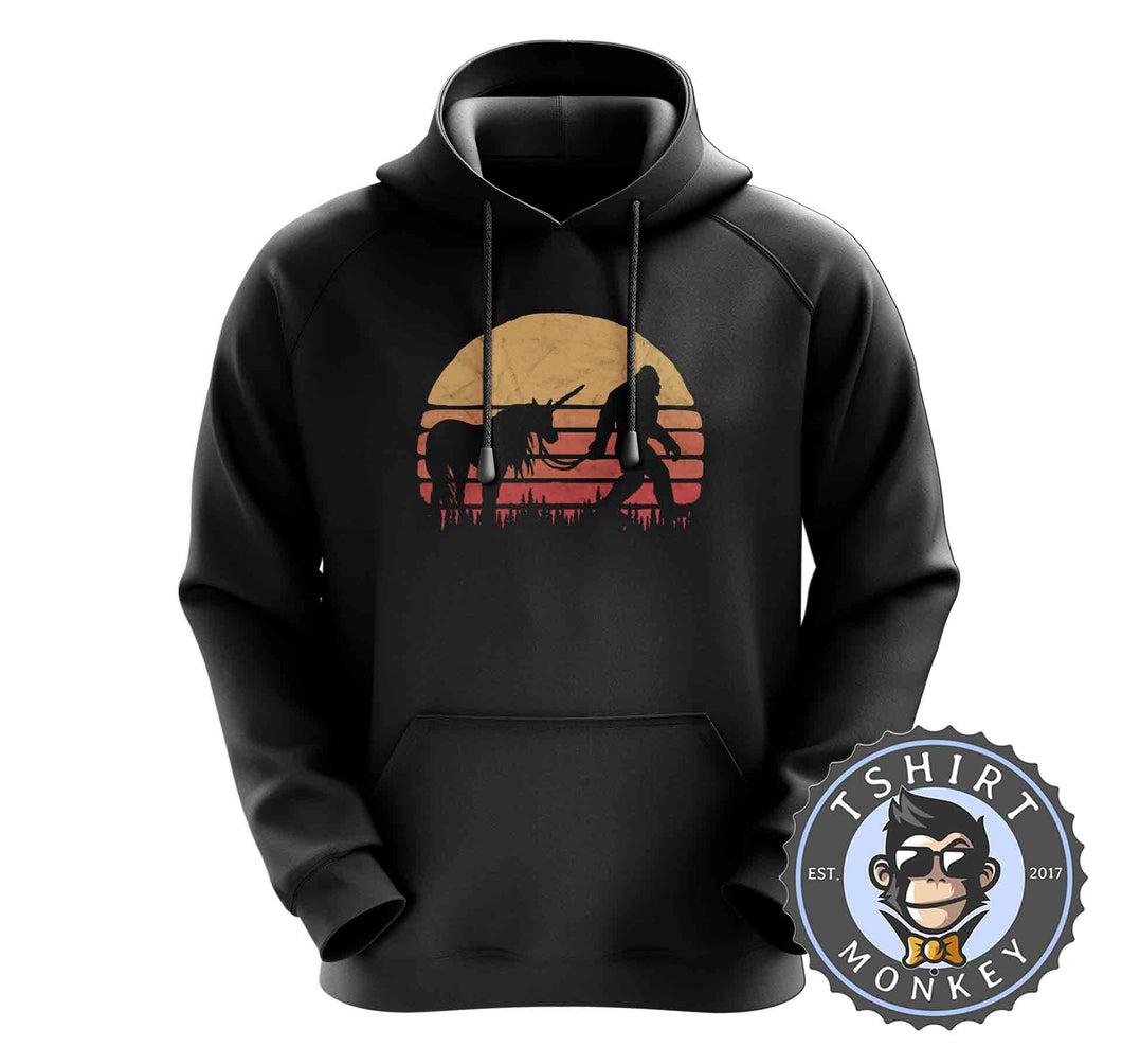 Hidden Together Bigfoot Sasquatch Unicorn Vintage Hoodies Hoodie Hoody Jumper Pullover Mens Ladies Kids Unisex 1072