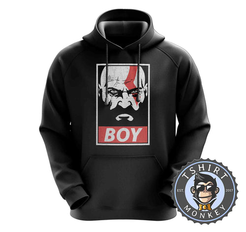 Boy - God of War Inspired Kratos Vintage Halftone Graphic Gaming Hoodies Hoodie Hoody Jumper Pullover Mens Ladies Kids Unisex 1320