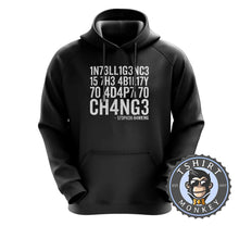 Load image into Gallery viewer, Intelligence By Stephen Hawking Hoodies Hoodie Hoody Jumper Pullover Mens Ladies Kids Unisex 3011