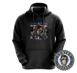 Dutch Bros Coffee Halloween Movie Inspired Vintage Hoodies Hoodie Hoody Jumper Pullover Mens Ladies Kids Unisex 1137