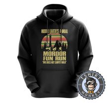 Load image into Gallery viewer, Annual Mordor Fun Run Movie Inspired Funny Vintage Hoodies Hoodie Hoody Jumper Pullover Mens Ladies Kids Unisex 1100