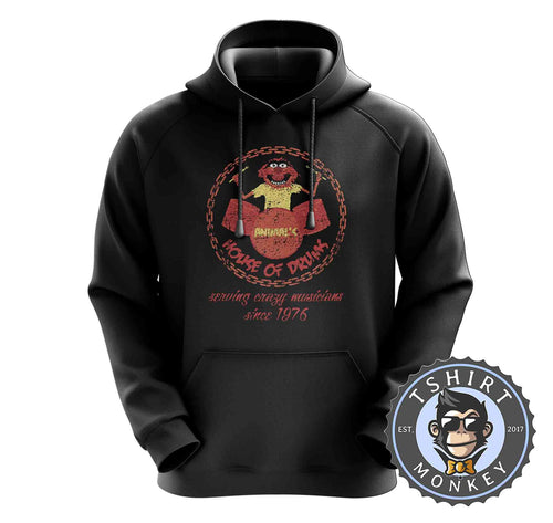 Elmo's House Of Drums Sesame Street TV Inspired Funny Vintage Hoodies Hoodie Hoody Jumper Pullover Mens Ladies Kids Unisex 1392
