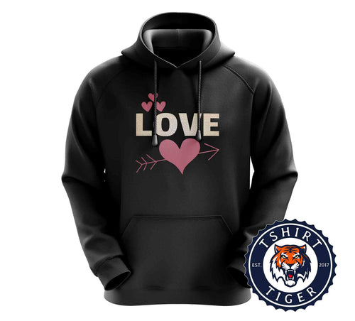 Love - Graphic Illustration Cute Valentines Day Hoodies Hoodie Hoody Jumper Pullover Mens Ladies Kids Unisex 3252