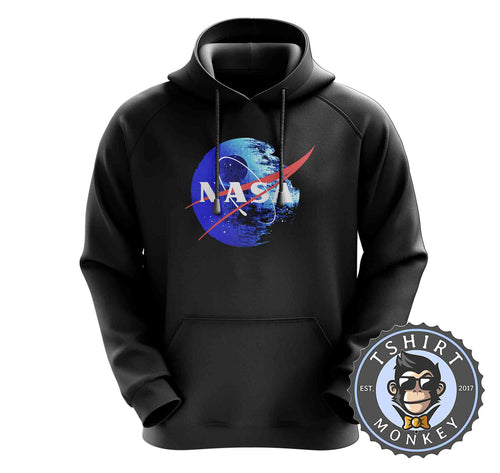 NASA Death Star Space Station Movie Inspired Meme Mashup Hoodies Hoodie Hoody Jumper Pullover Mens Ladies Kids Unisex 1245