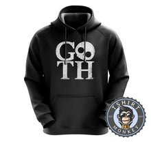 Load image into Gallery viewer, GOTH V1 Skull Inspired Graphic Illustration Hoodies Hoodie Hoody Jumper Pullover Mens Ladies Kids Unisex 1192