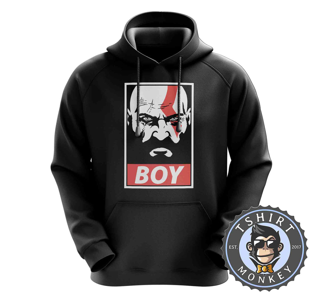 Boy - God of War Inspired Kratos Vintage Graphic Gaming Hoodies Hoodie Hoody Jumper Pullover Mens Ladies Kids Unisex 1319