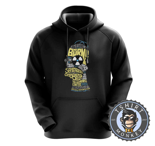 Mr Burns Homer Simpsons Word Art Graphic Hoodies Hoodie Hoody Mens Ladies Kids Unisex 1551