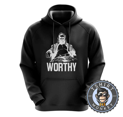 FaThor - Worthy - Vintage Funny Beer Drinking Hoodies Hoodie Hoody Jumper Pullover Mens Ladies Kids Unisex 1354