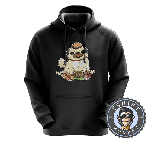 Fast Pug Food Cute Dog Lover Graphic Hoodies Hoodie Hoody Mens Ladies Kids Unisex 1566