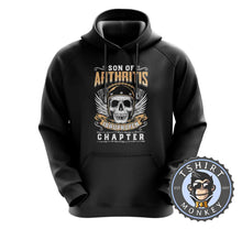 Load image into Gallery viewer, Skull With Wings Sons of Arthritis Inspired Hoodies Hoodie Hoody Jumper Pullover Mens Ladies Kids Unisex 0051