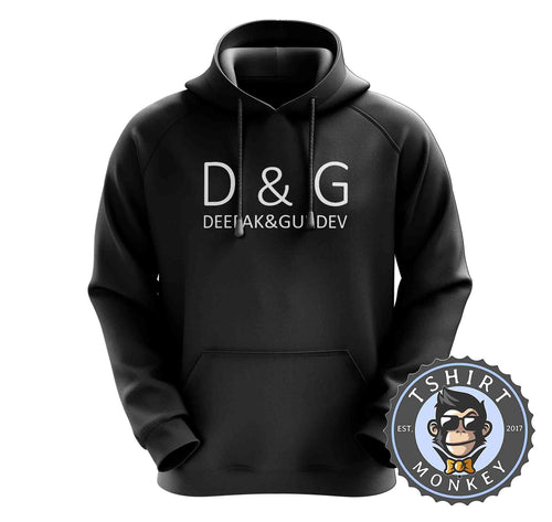 Deepak and Gurdev Typography Graphic Hoodies Hoodie Hoody Mens Ladies Kids Unisex 1543