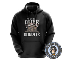 Load image into Gallery viewer, Otter Reindeer Hoodies Hoodie Hoody Jumper Pullover Mens Ladies Kids Unisex 2993