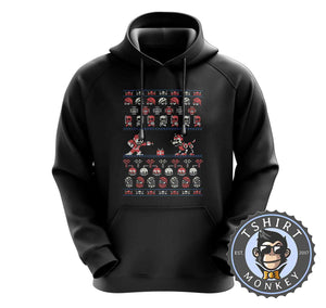 Mega Christmas Ugly Sweater Hoodies Hoodie Hoody Jumper Pullover Mens Ladies Kids Unisex 2853