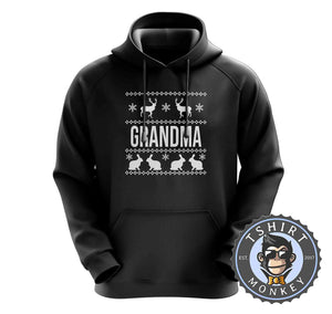 Grandma Ugly Sweater Chistmas Hoodies Hoodie Hoody Jumper Pullover Mens Ladies Kids Unisex 1633