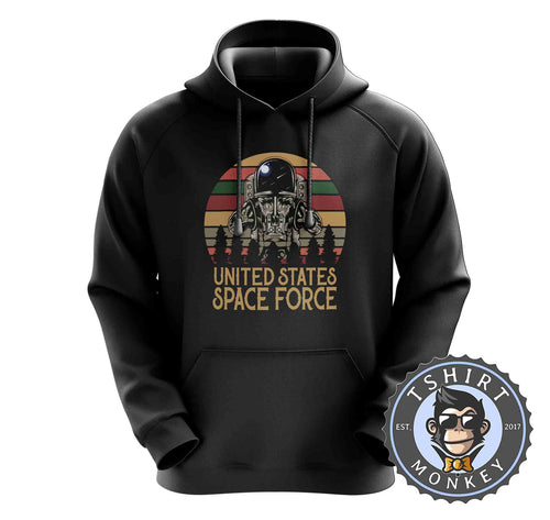 US Space Force Astronaut Vintage Hoodies Hoodie Hoody Mens Ladies Kids Unisex 1549