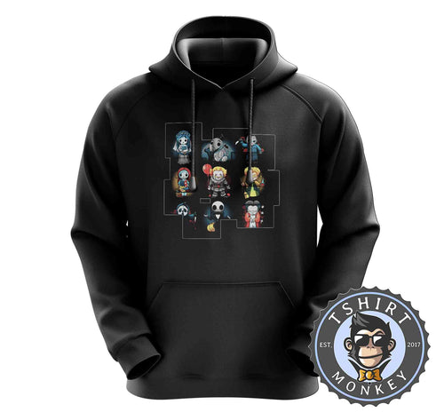 Cute Chibi Holloween Graphic Hoodies Hoodie Hoody Mens Ladies Kids Unisex 1511