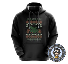 Load image into Gallery viewer, Godzilla Ugly Sweater Christmas Hoodies Hoodie Hoody Jumper Pullover Mens Ladies Kids Unisex 2897