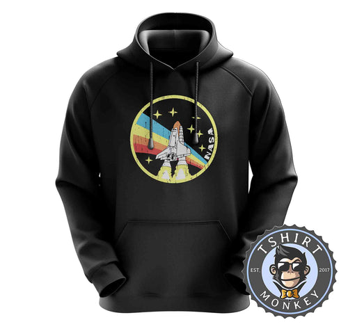 Vintage NASA Inspired Space Shuttle Graphic Hoodies Hoodie Hoody Jumper Pullover Mens Ladies Kids Unisex 1207