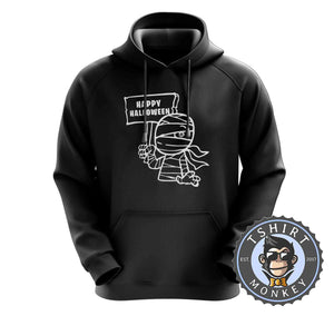 Happy Halloween V2 Mummy Inspired Cartoon Hoodies Hoodie Hoody Jumper Pullover Mens Ladies Kids Unisex 1159