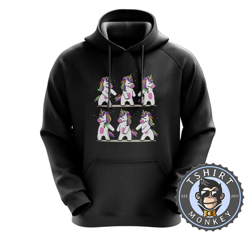 Dancing Cute Unicorn Cool Graphic Hoodies Hoodie Hoody Jumper Pullover Mens Ladies Kids Unisex 1420