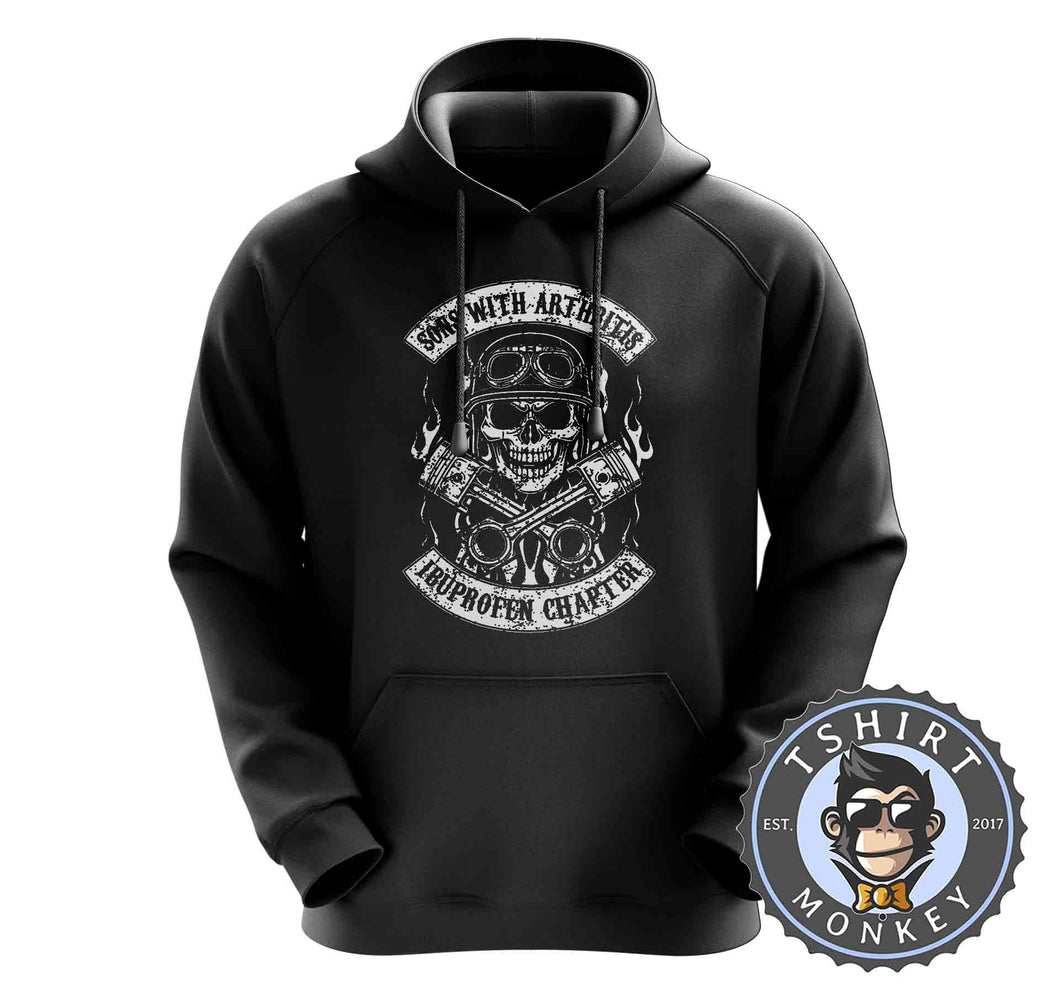 Sons With Arthritis Ibuprofen Vintage Biker Hoodies Hoodie Hoody Jumper Pullover Mens Ladies Kids Unisex 1077