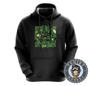Triple Nerd Score Geek Technology Graphic Hoodies Hoodie Hoody Jumper Pullover Mens Ladies Kids Unisex 1303