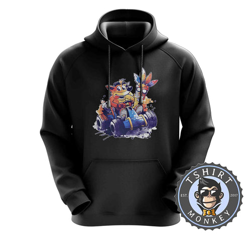 Crash Bandicoot Team Racing Game Inspired Watercolor Hoodies Hoodie Hoody Jumper Pullover Mens Ladies Kids Unisex 1442