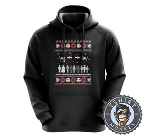 Jedi Force Ugly Sweater Christmas Hoodies Hoodie Hoody Jumper Pullover Mens Ladies Kids Unisex 1669