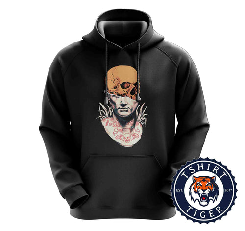 Unique Indie Skull Tattoo Abstract Graphic Hoodies Hoodie Hoody Jumper Pullover Mens Ladies Kids Unisex 3189