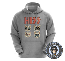 Load image into Gallery viewer, Hiss - Kiss Inspired Meme Funny Cat Hoodies Hoodie Hoody Jumper Pullover Mens Ladies Kids Unisex 1089
